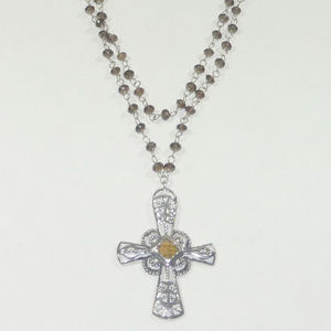 Silpada Sterling Marquessa Cross Necklace N2331